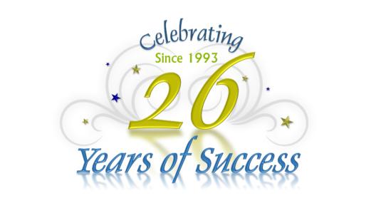 celebrating 26 years of success